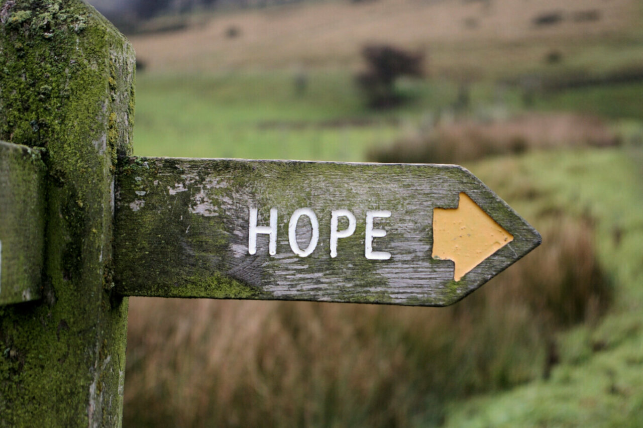 Hope sign post