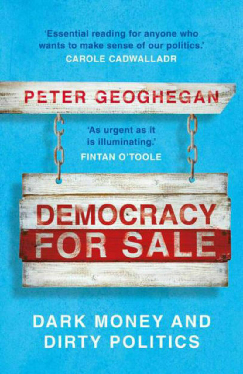 Peter Geoghegan democracy for sale book cover